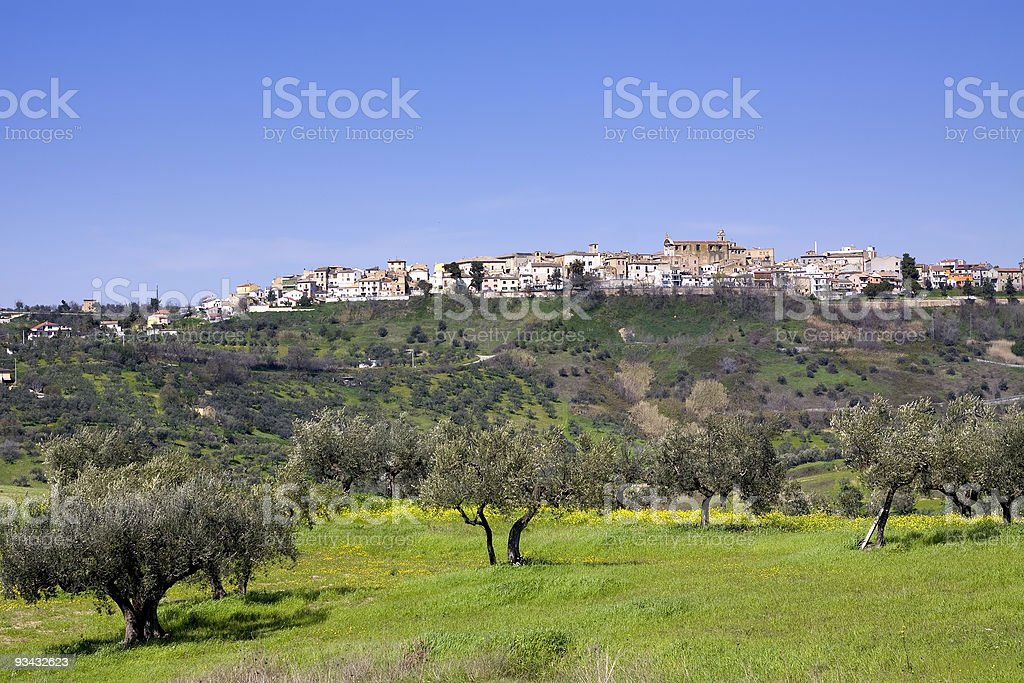 Italian countryside royalty-free stock photo