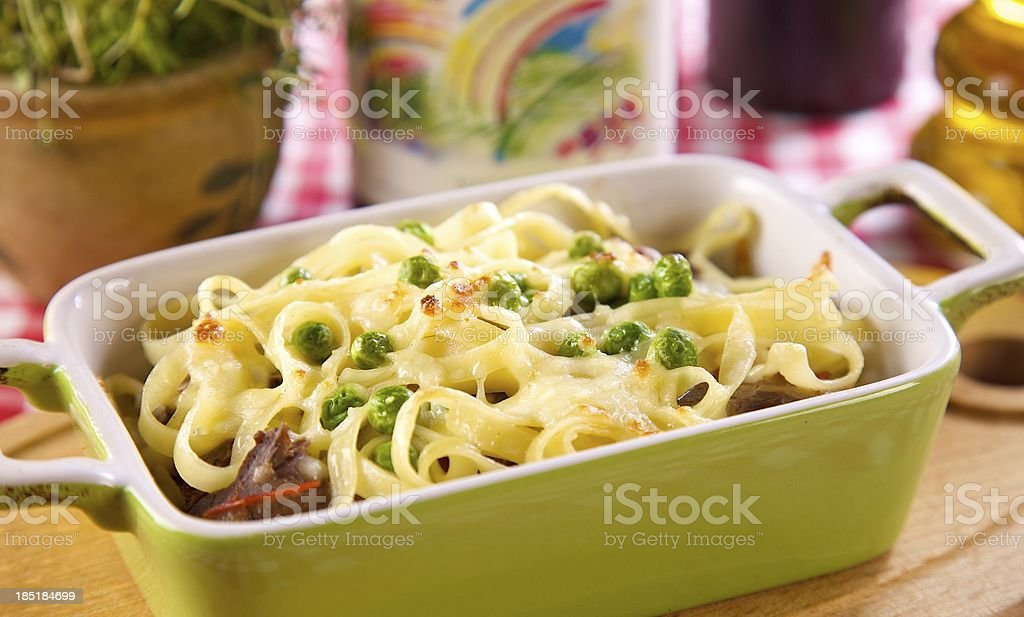 italian cuisine, lasagne with pasta royalty-free stock photo
