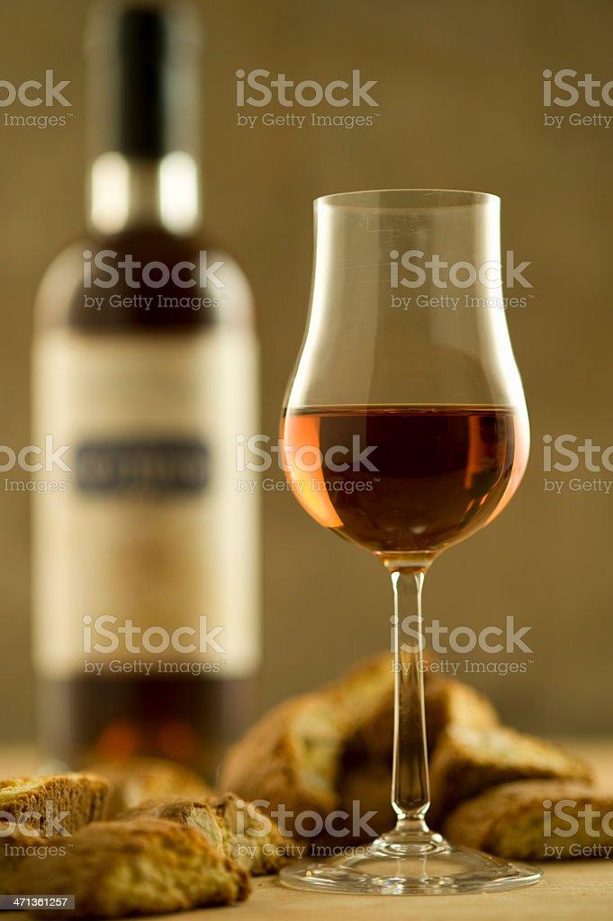 Italian culture, Vin Santo with cantuccini stock photo