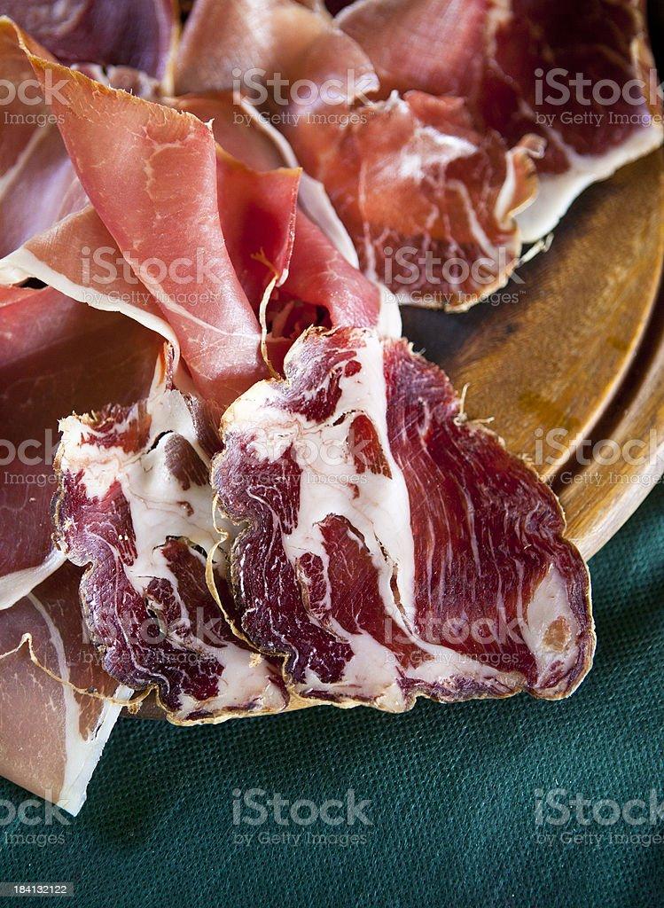 italian cured meats stock photo