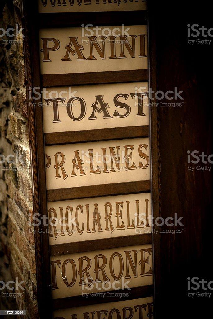 italian delicatessen stock photo