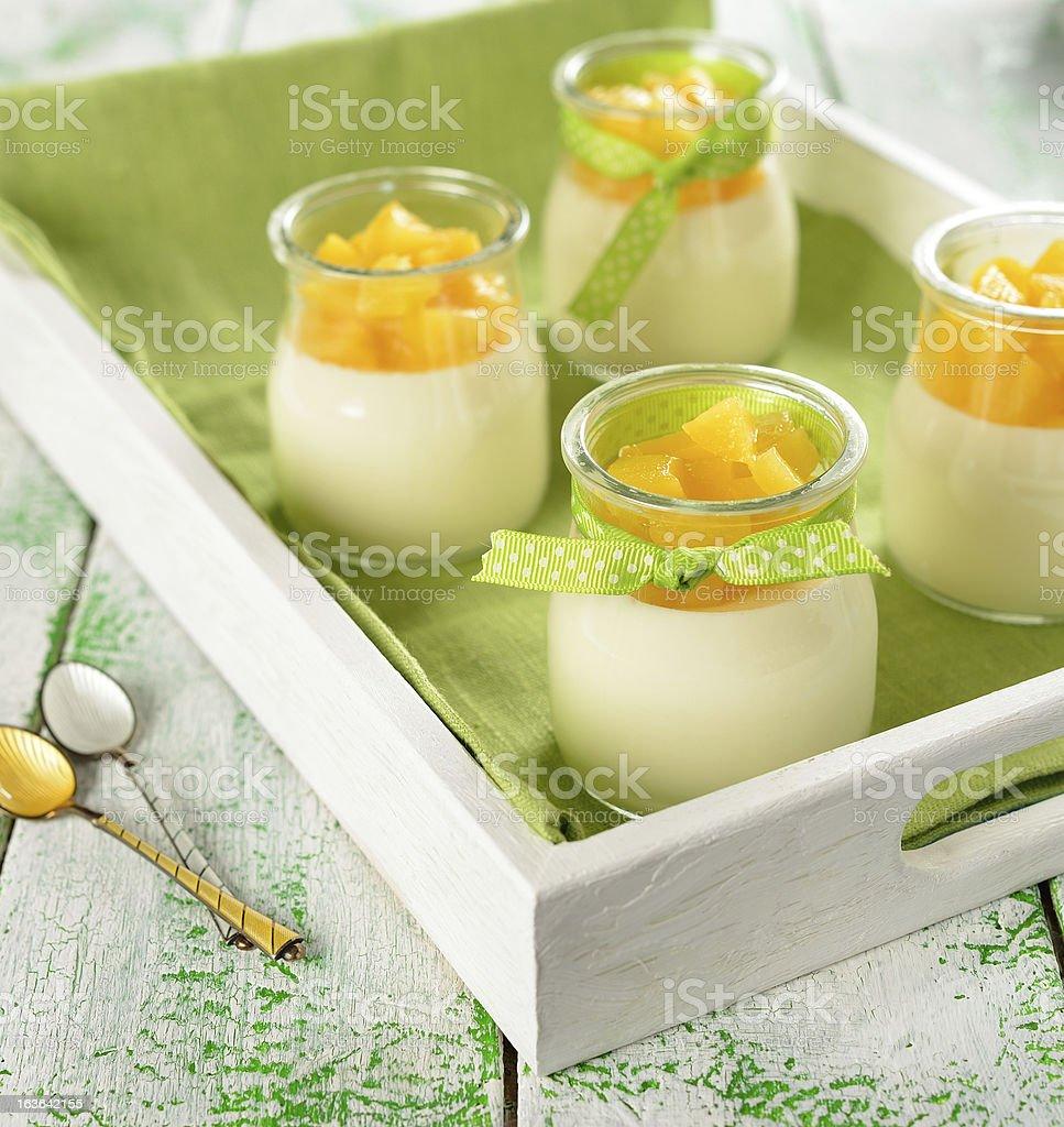 Italian dessert panna cotta royalty-free stock photo