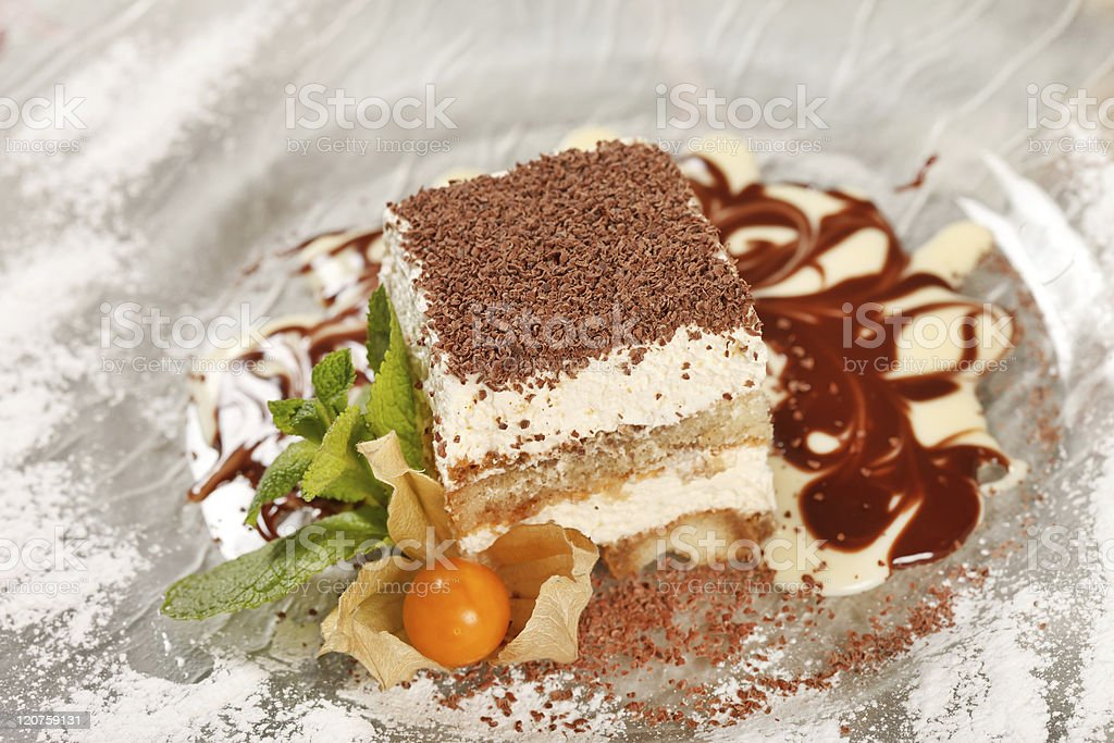Italian dessert royalty-free stock photo