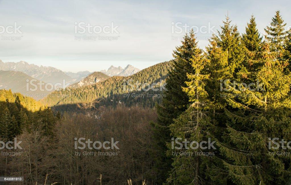 Italian Dolomites Trento stock photo