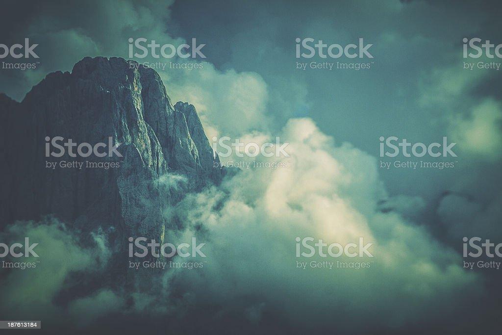Italian Dolomites Unesco World Heritage Site stock photo