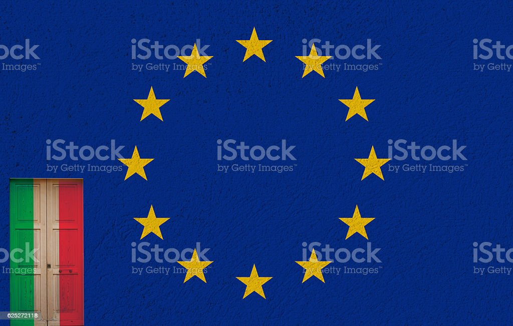 italian door and referendum stock photo