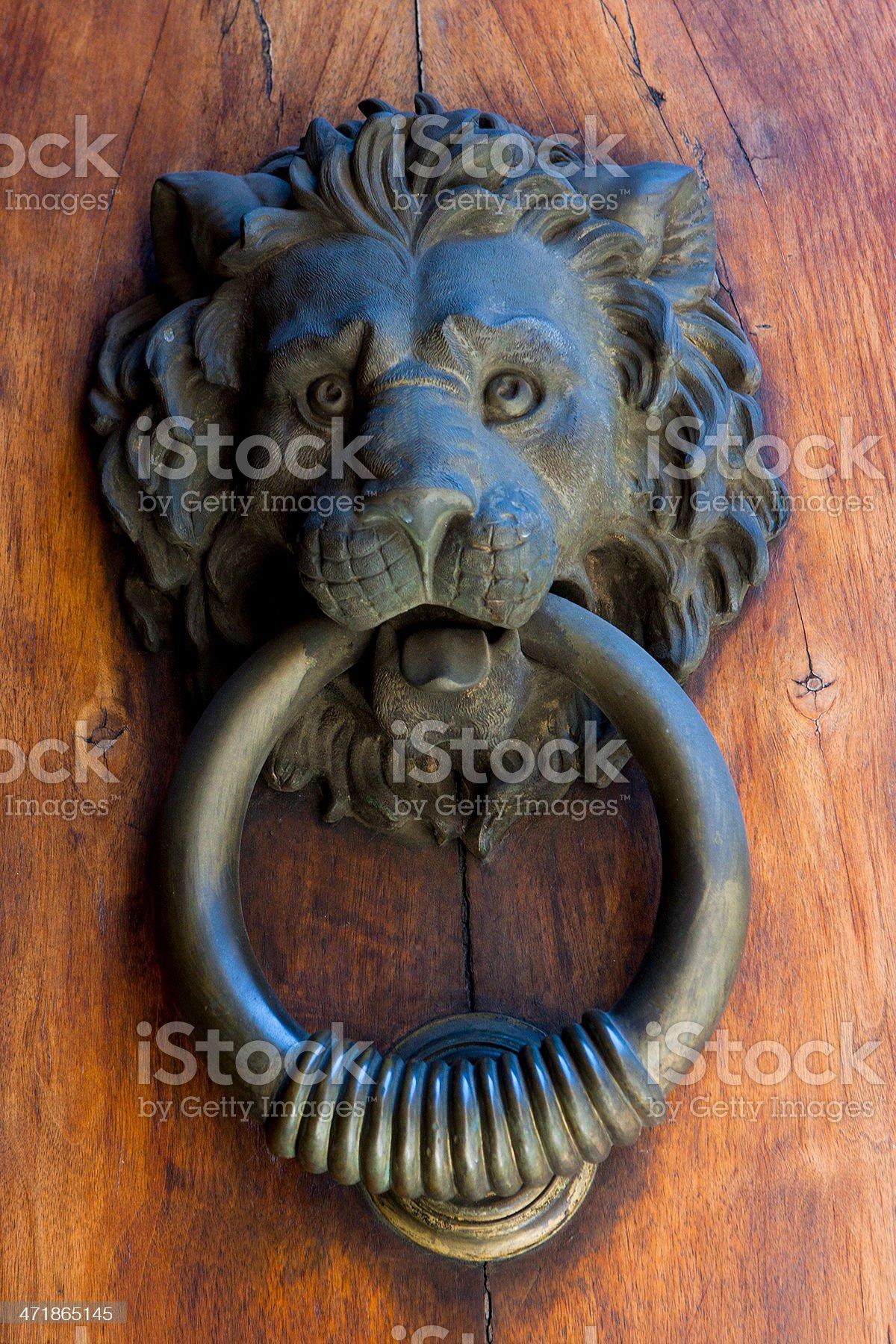 Italian Door Knocker royalty-free stock photo