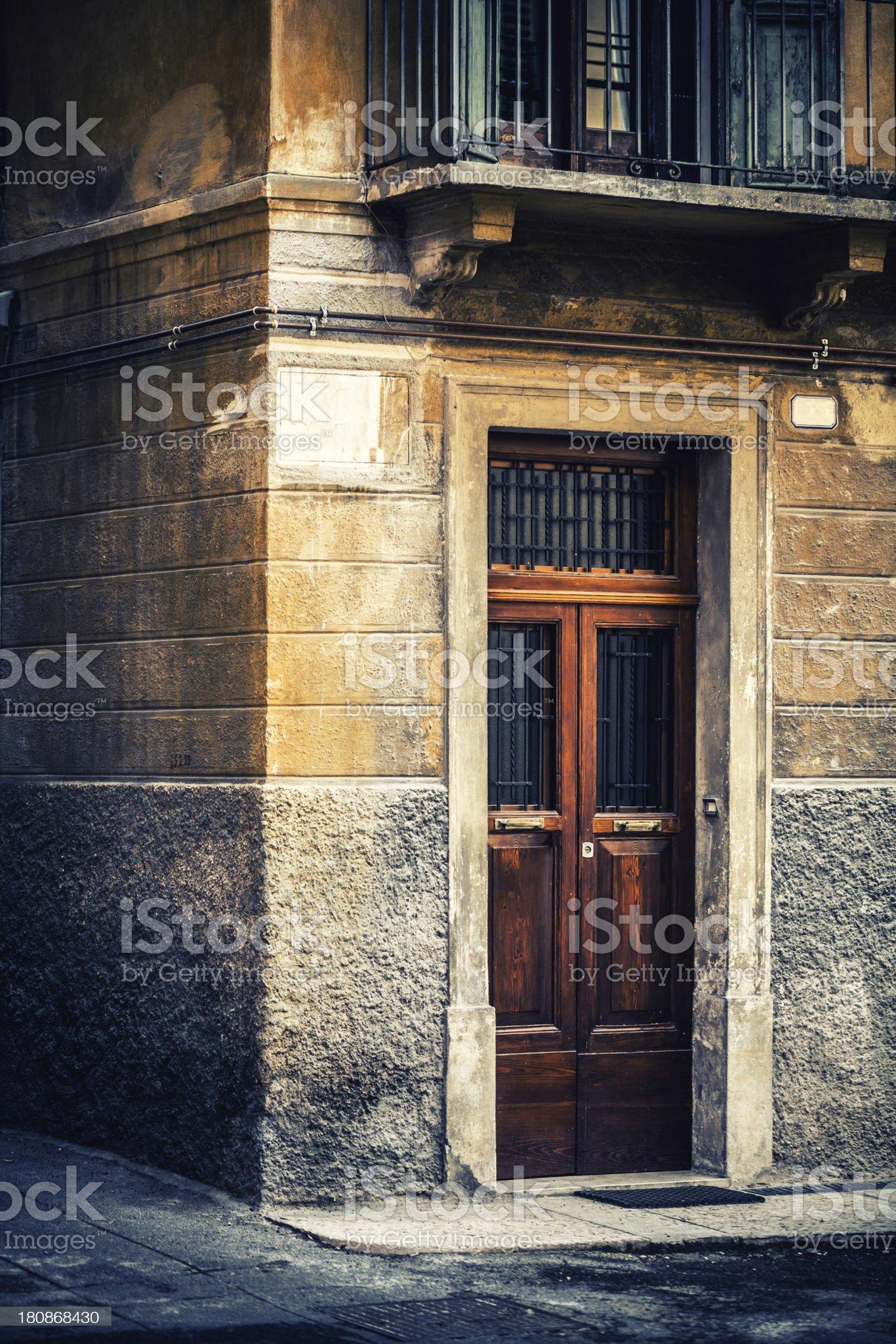 Italian Door royalty-free stock photo