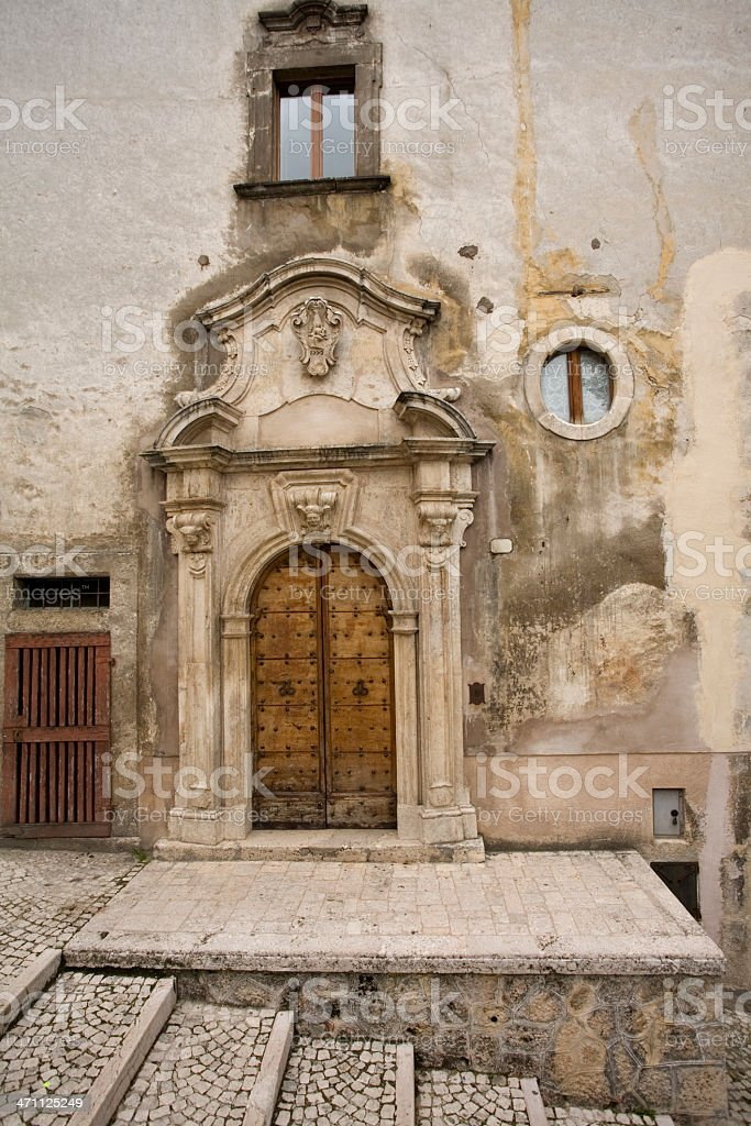 Italian doorway. royalty-free stock photo