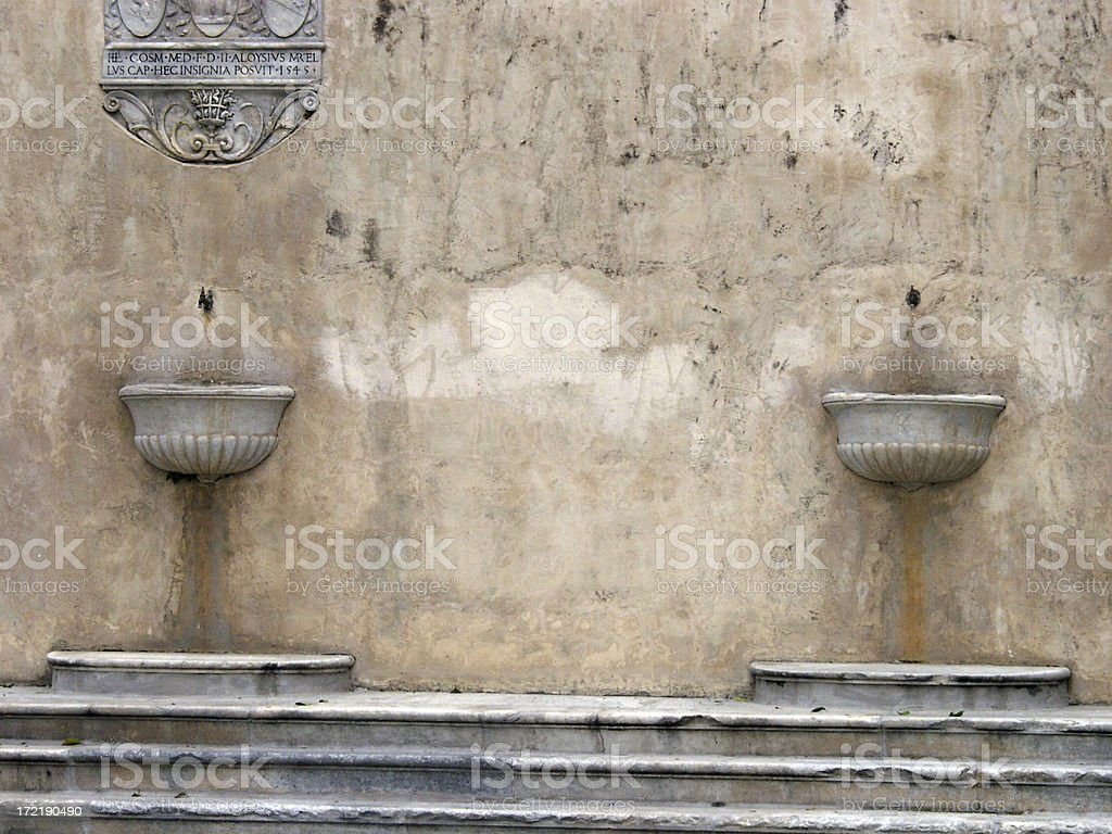 Italian Drinking Fountains. royalty-free stock photo