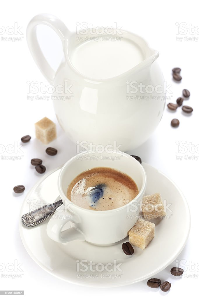 italian espresso and milk royalty-free stock photo