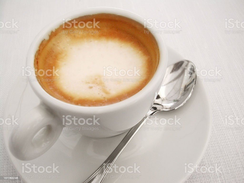 italian espresso with milk royalty-free stock photo