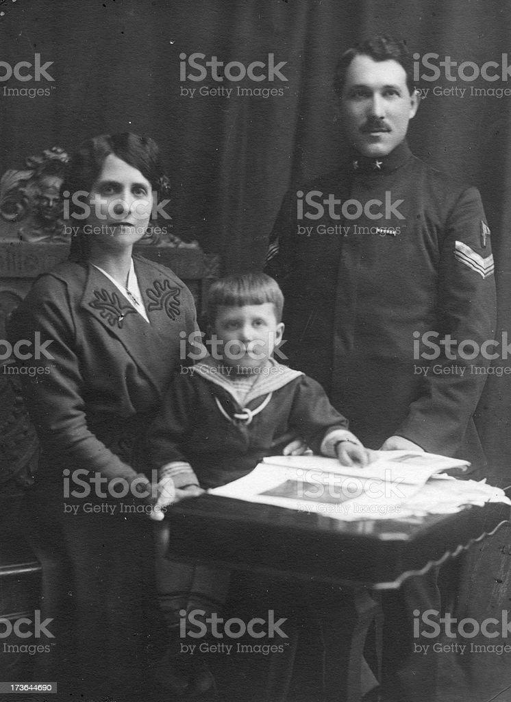 Italian family in 1913 royalty-free stock photo