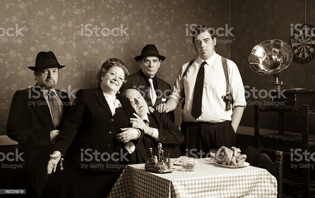 Italian family stock photo