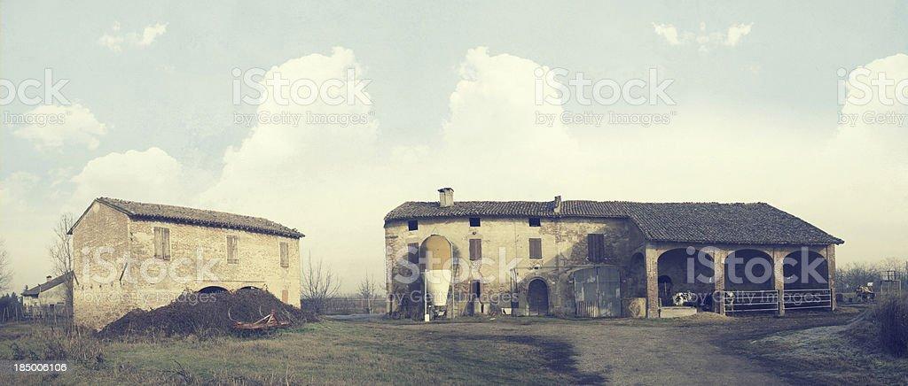 Italian Farm. Vintage style stock photo