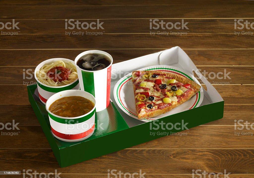 Italian fast food menu royalty-free stock photo