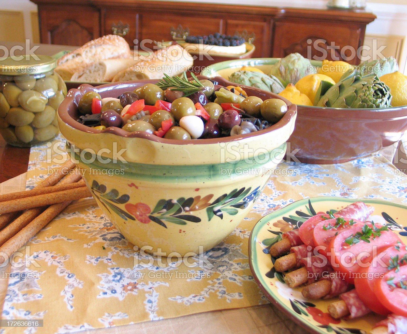 Italian Feast royalty-free stock photo