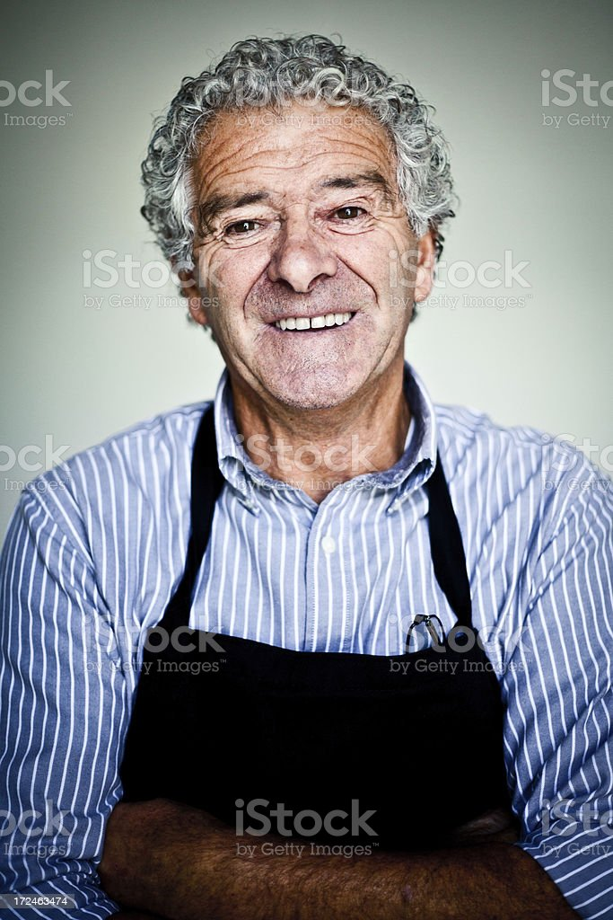 Italian Fish monger royalty-free stock photo