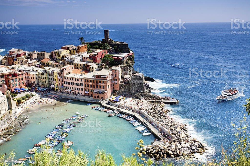 Italian Fishing Village stock photo