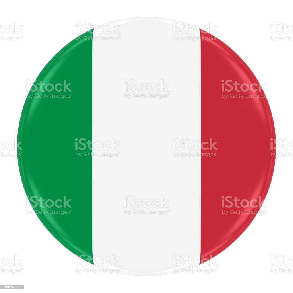 Italian Flag Badge stock photo