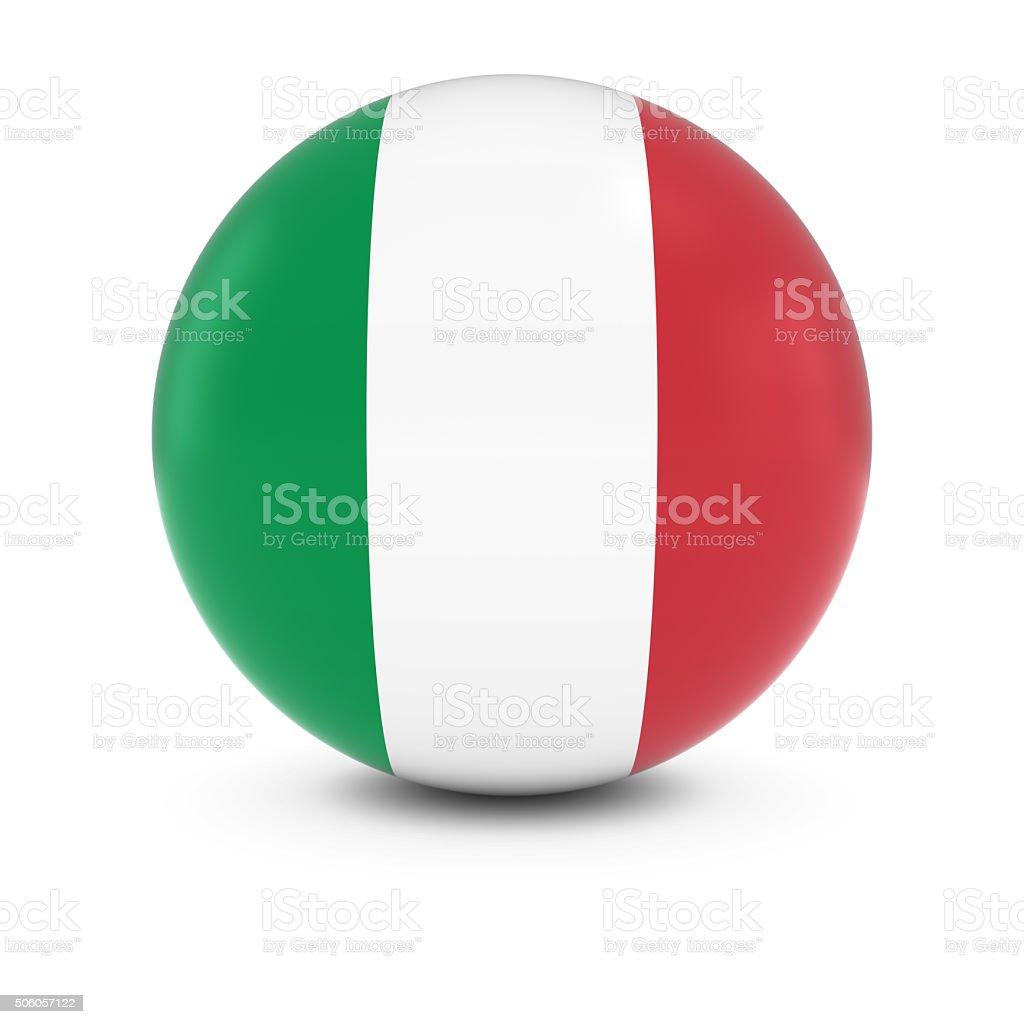 Italian Flag Ball - Flag of Italy on Isolated Sphere stock photo