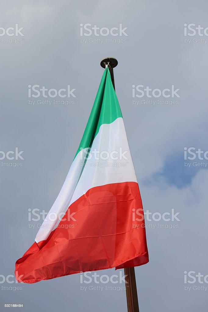 Italian Flag In The Wind stock photo