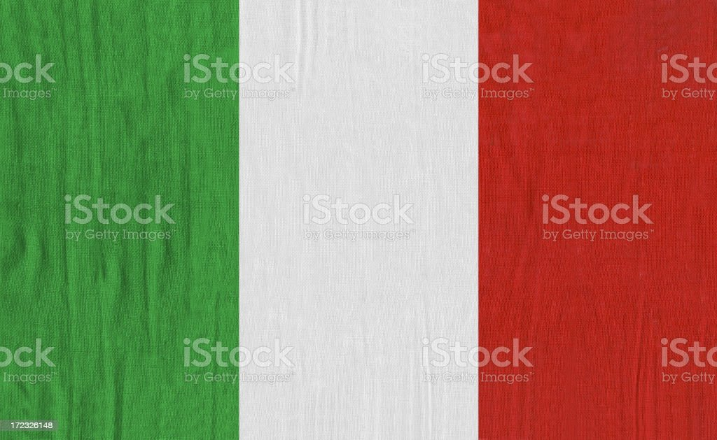 Italian flag royalty-free stock photo