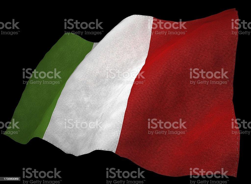 3D Italian Flag royalty-free stock photo