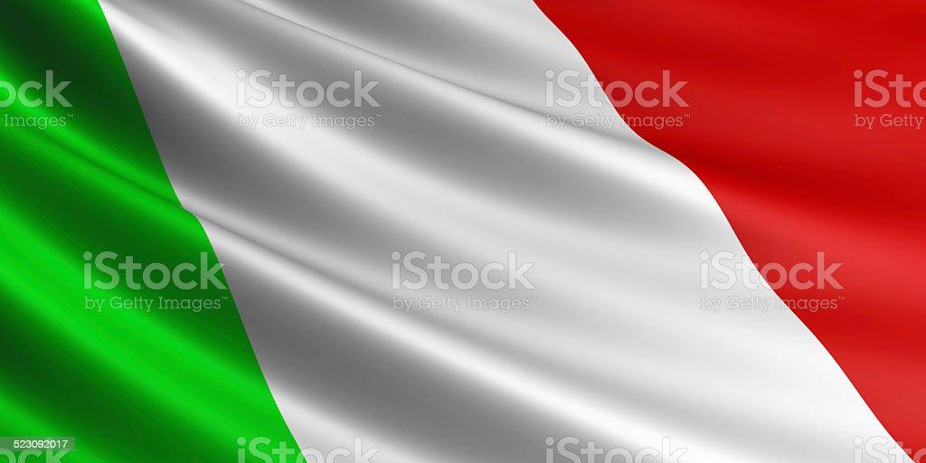 Italian flag. royalty-free stock photo