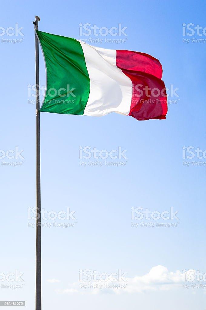 italian flag stock photo