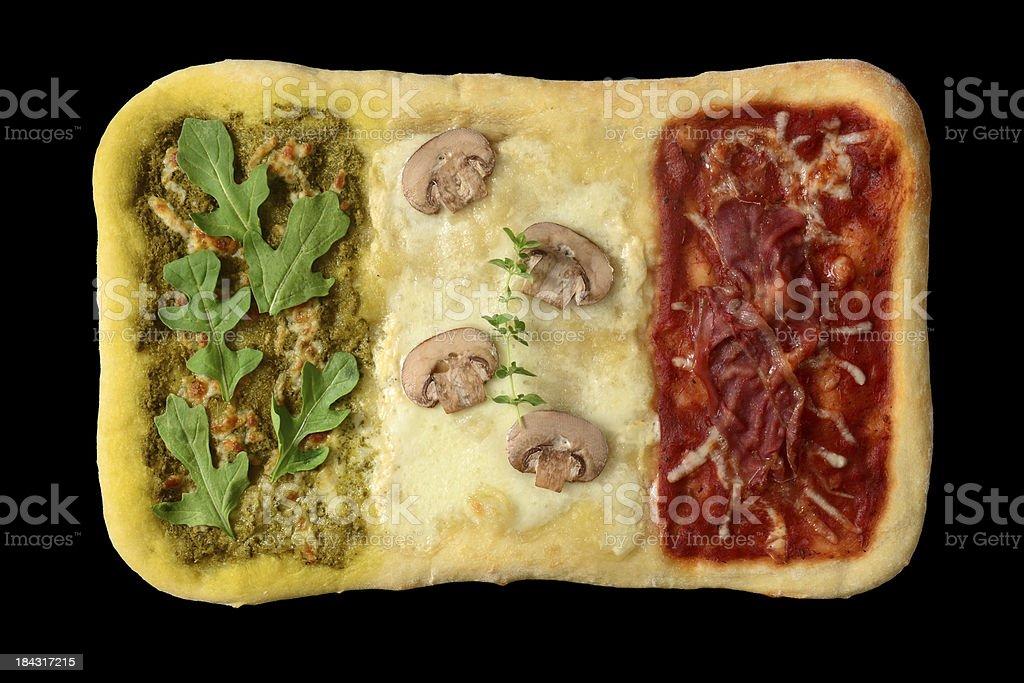 Italian Flag Pizza royalty-free stock photo