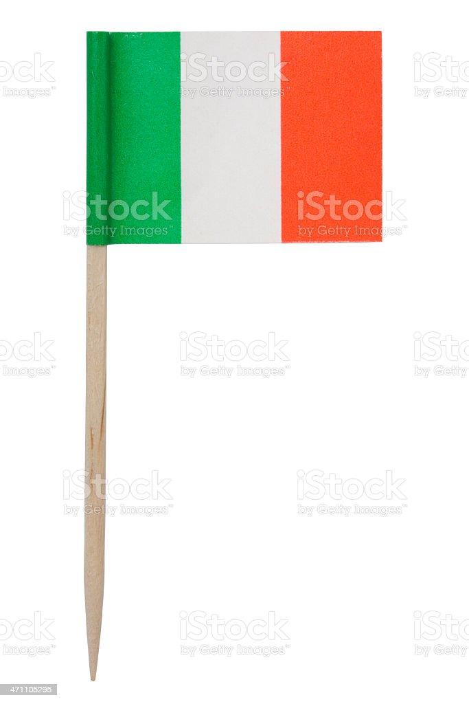Italian flag toothpick (XL) royalty-free stock photo