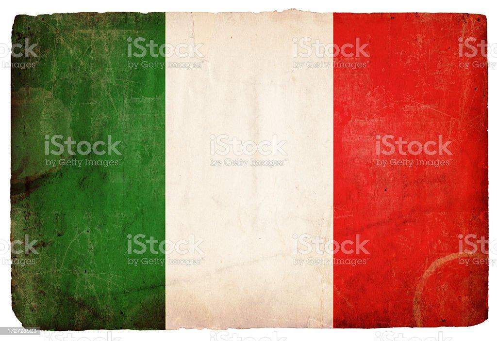 Italian Flag XXXL stock photo