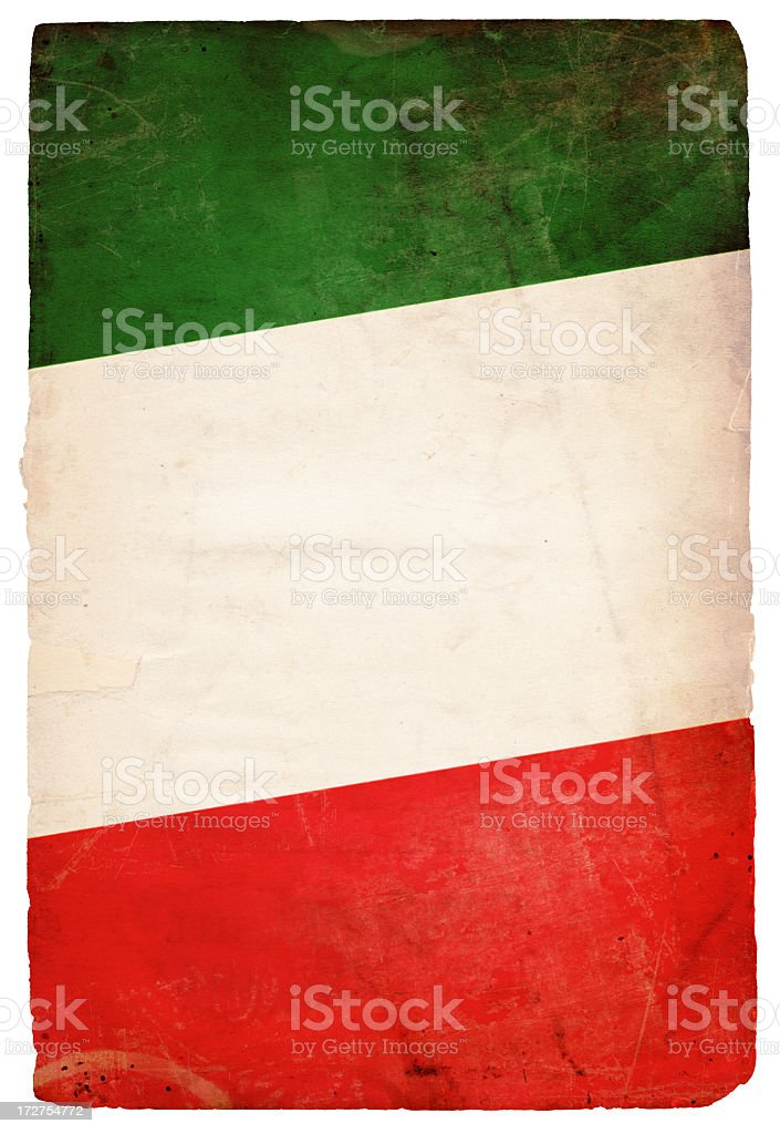 Italian Flag XXXL stock photo