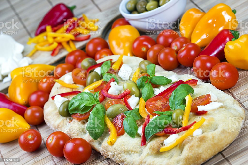 Italian focaccia royalty-free stock photo