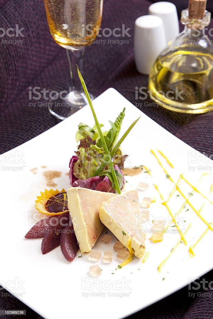 Italian Foie grass menu stock photo