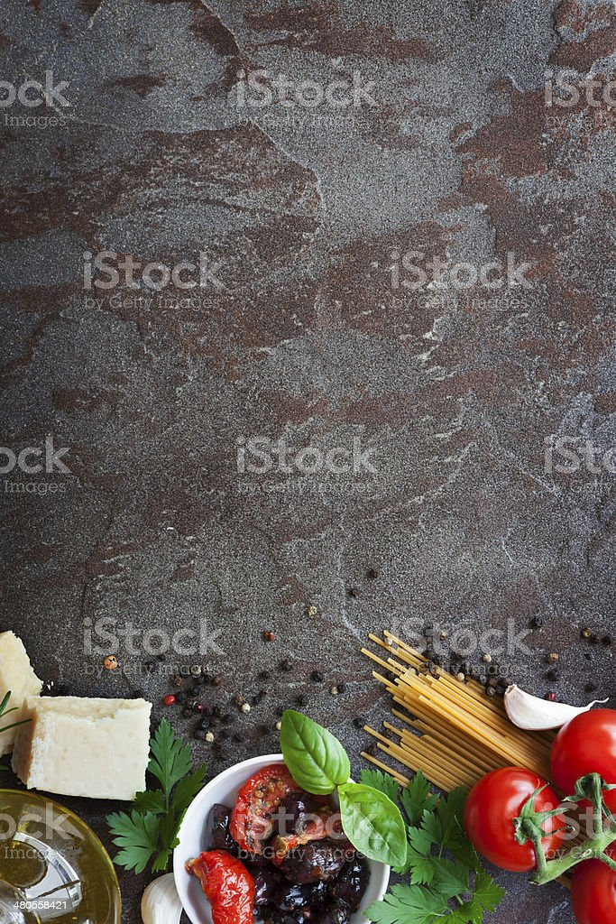 Italian Food Background with Space for Text stock photo