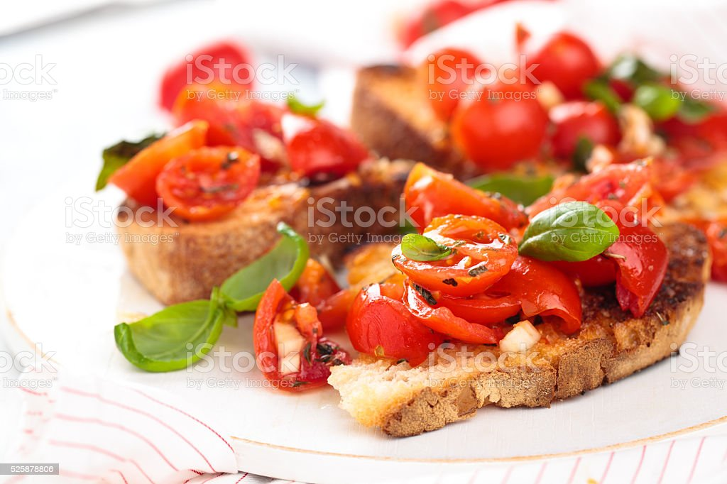 Italian food. Bruschetta. stock photo