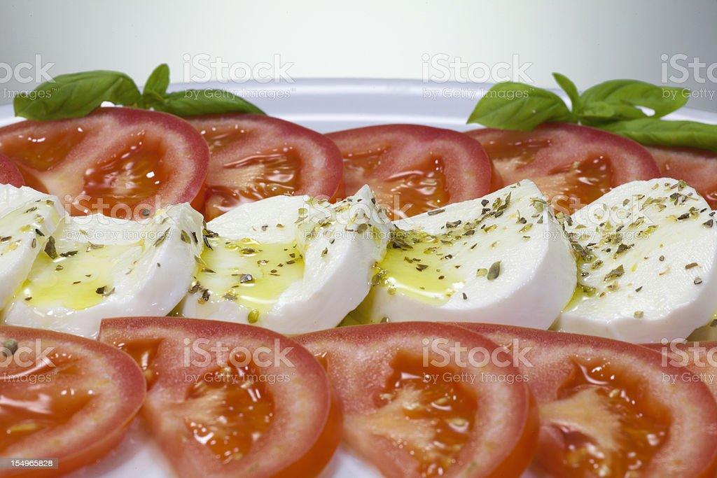 Italian food - caprese salad royalty-free stock photo
