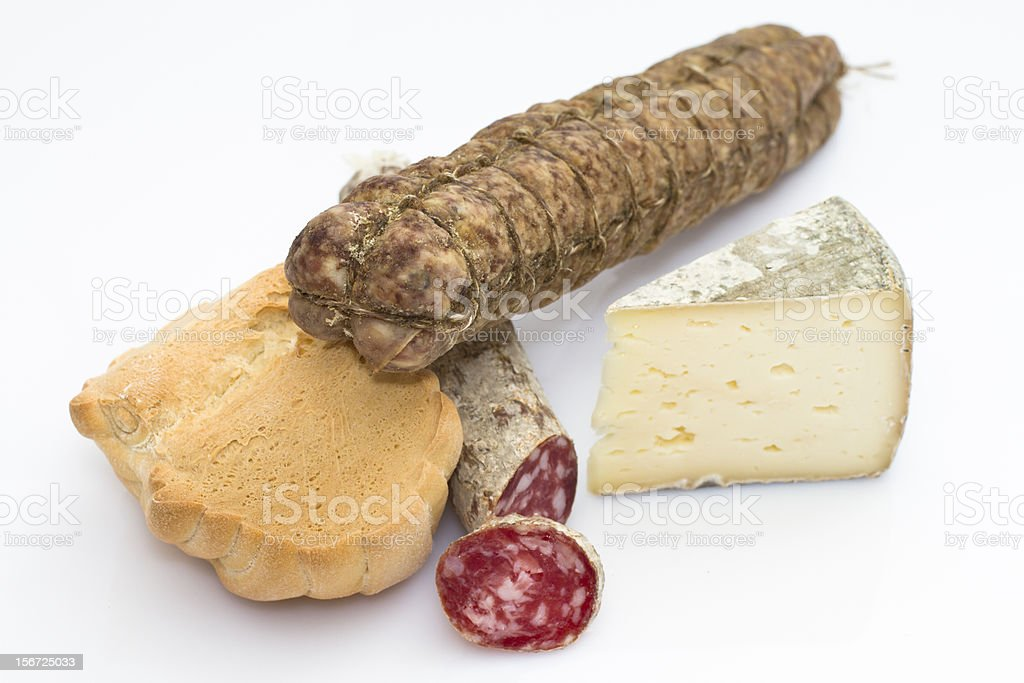 Italian food - Group of typical products royalty-free stock photo