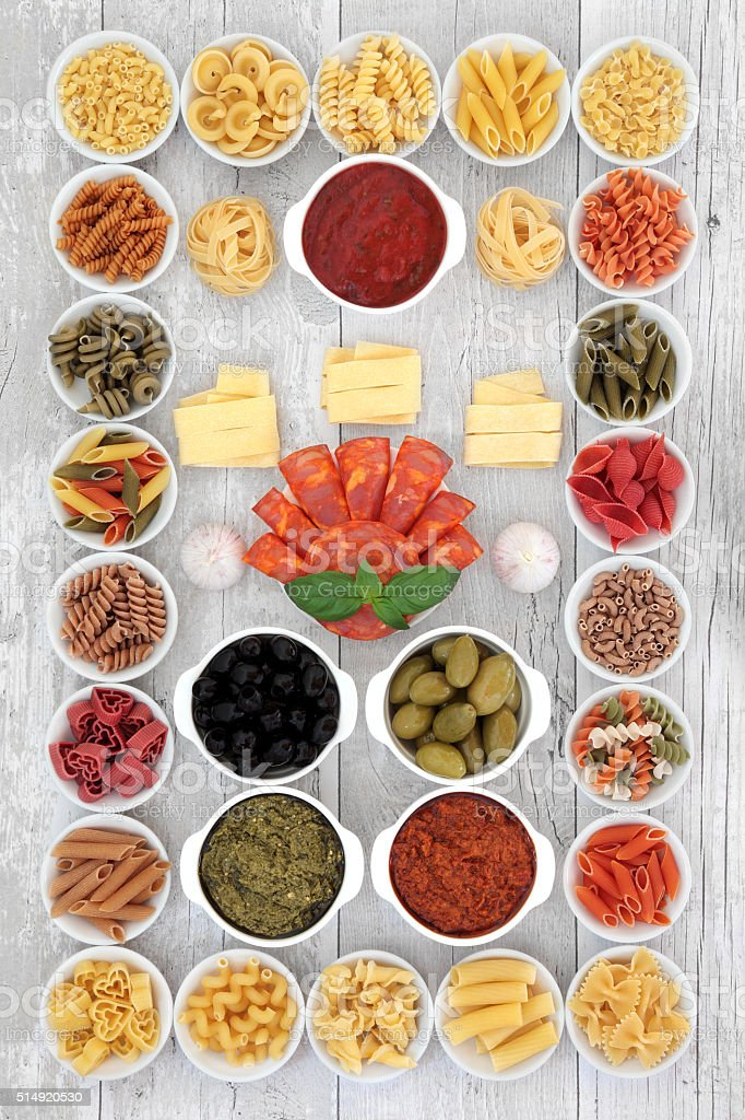 Italian Food Ingredient Sampler stock photo