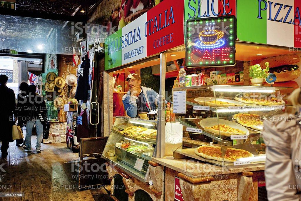 Italian Food Kiosk at Camden Market, London stock photo