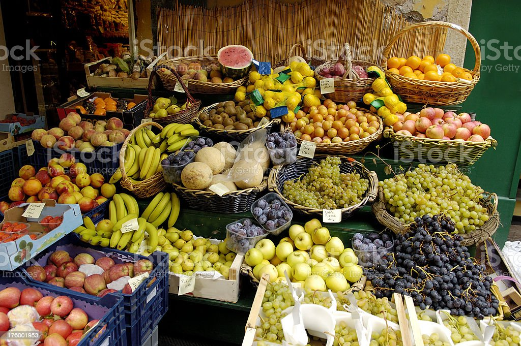 Italian fruit stand royalty-free stock photo