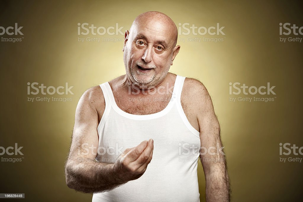 Italian gesture series: 'What?' stock photo