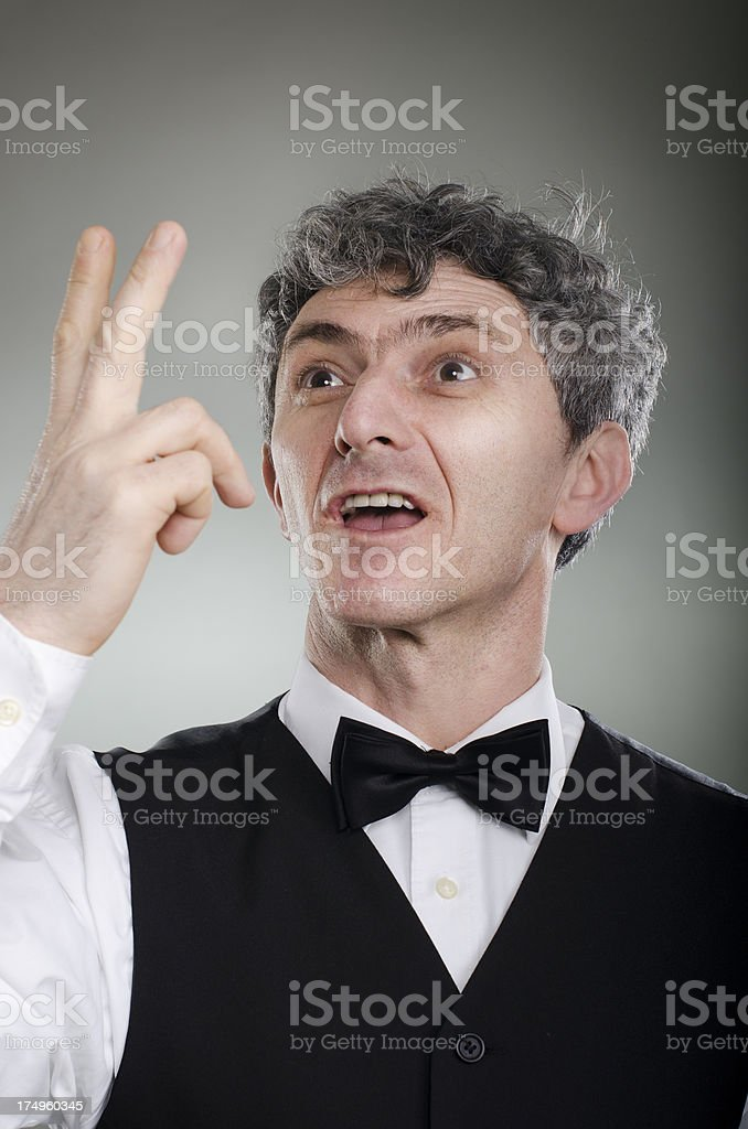 Italian gesturing royalty-free stock photo