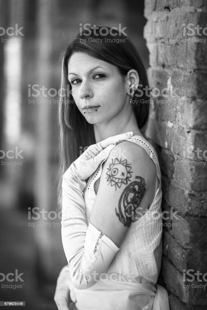 Italian girl stock photo