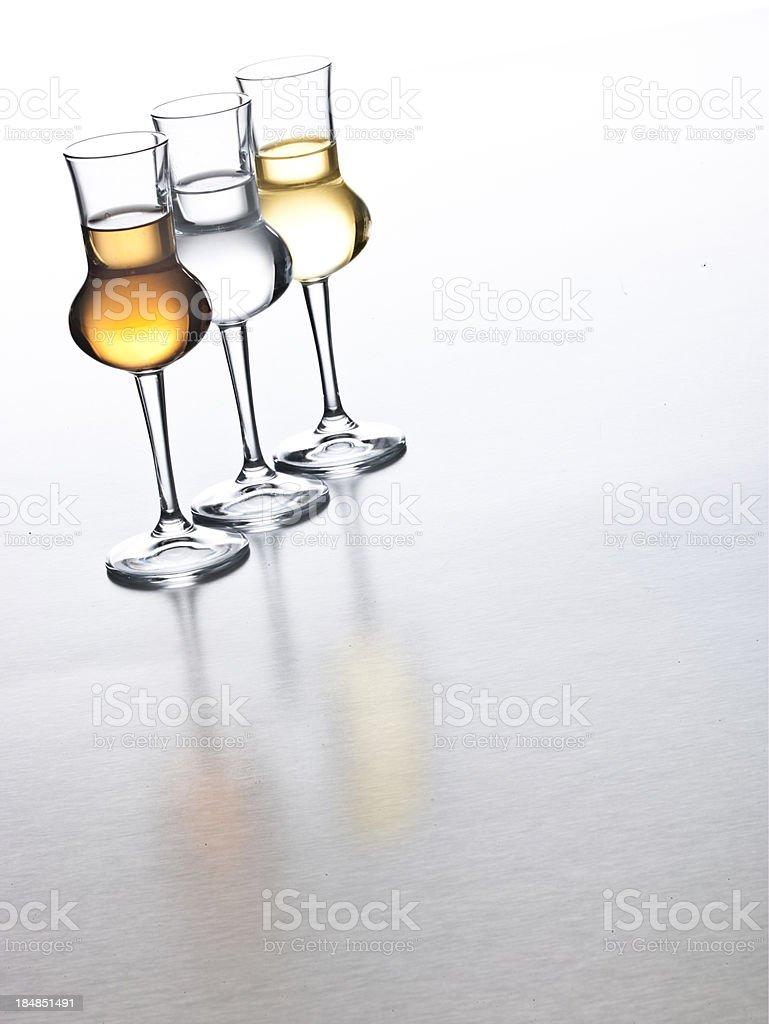Italian Grappa stock photo