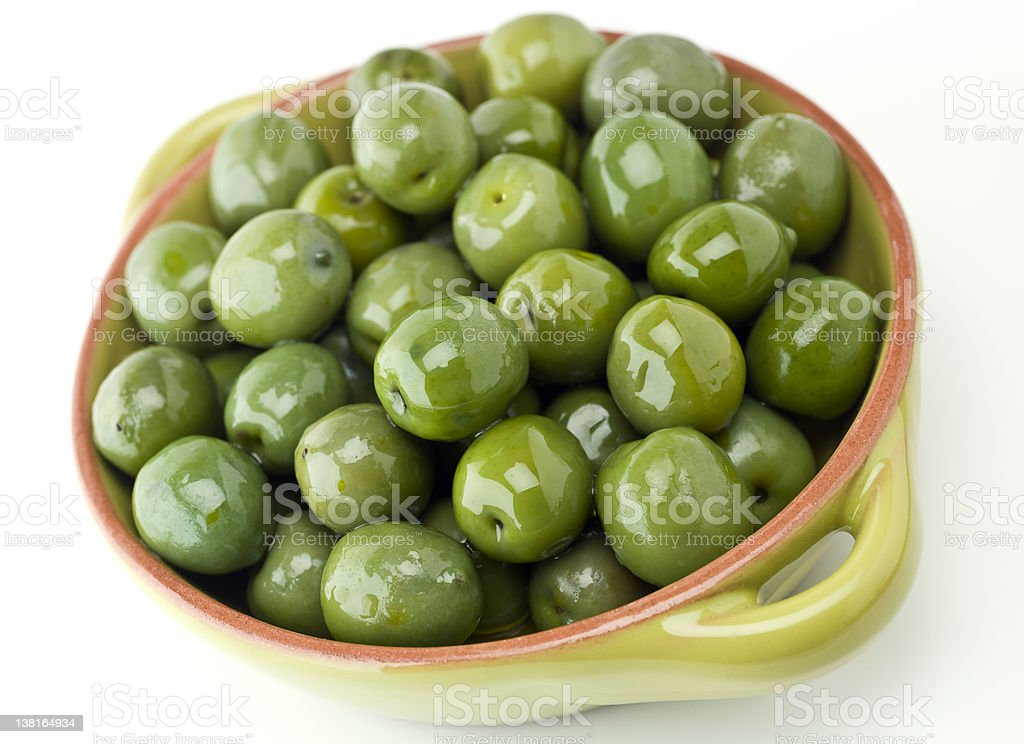 Italian Green Cerignola Olives stock photo
