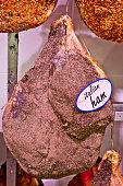 italian ham on the bone and spices, salt, pepper