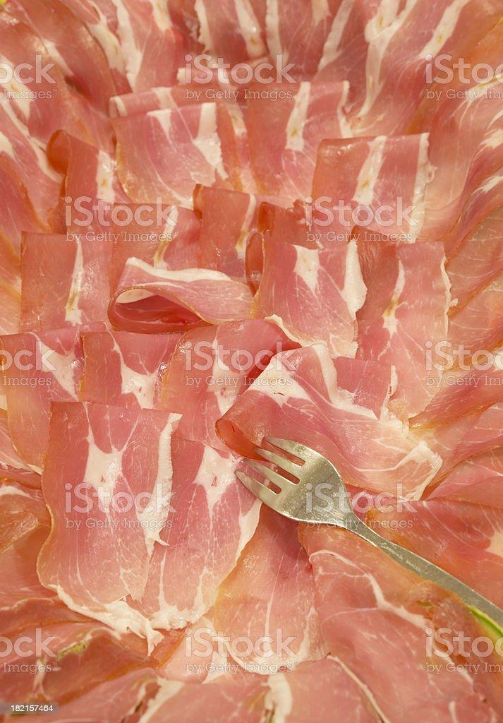 Italian Ham royalty-free stock photo